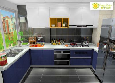 简约时尚-L型厨房131